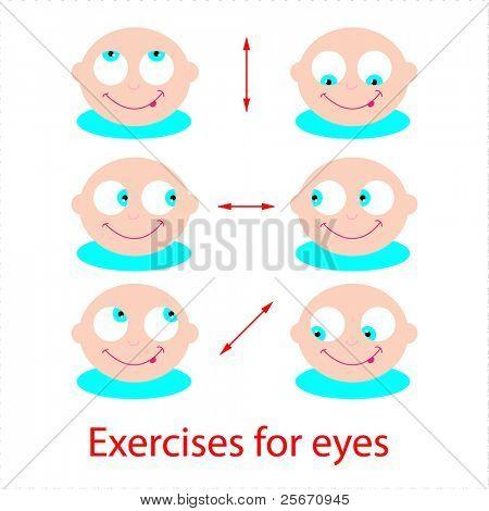 Set of exercises for the eyes. Good eyesight!