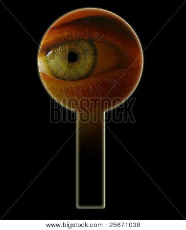 eye and keyhole