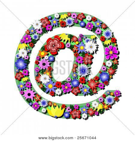 internet button with colour flowers