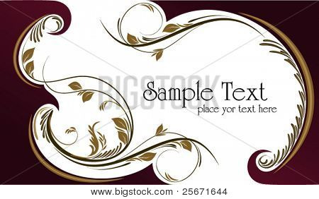 floral background for your text