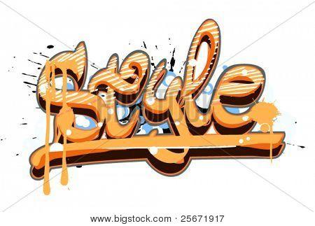 graffiti style vector