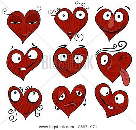heart cartoon vector design