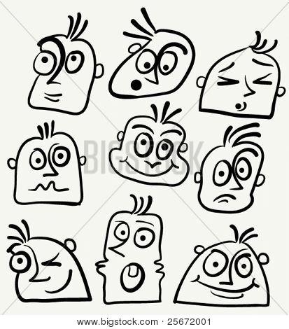 Cartoon funny face