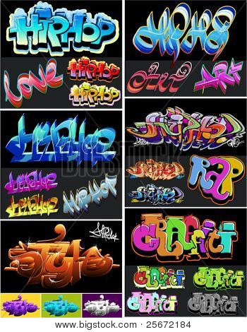 Hip hop graffiti crime art