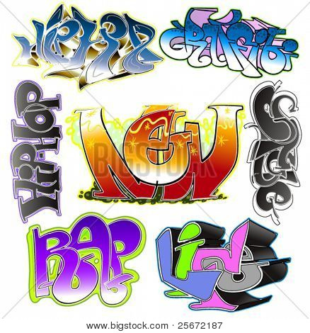 Graffiti vector design. Urban art