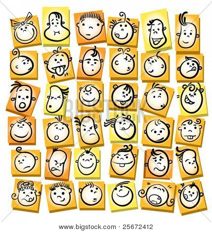 child kid face icons