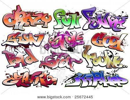 Graffiti, urban hip hop vector