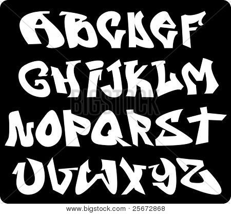 alfabeto de graffiti font