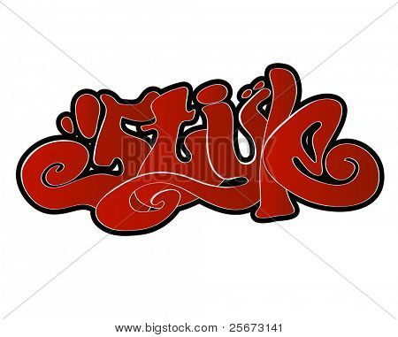 Graffiti vector style urban art
