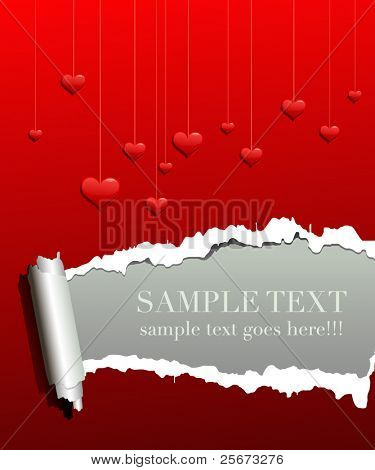 valentine love background with concept frame for text