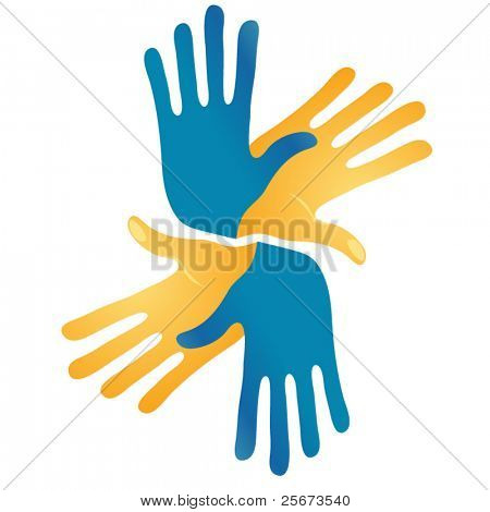 abstract hands vector symbol