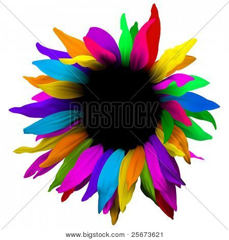 Design flower abstract element.