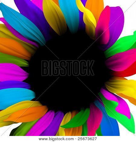 Creative design for card template or banner, flower concept