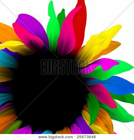 Background design, vector abstract flower