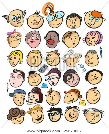 face people cartoon