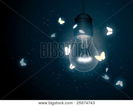 Lampe mit Schmetterling (Nachtfalter)