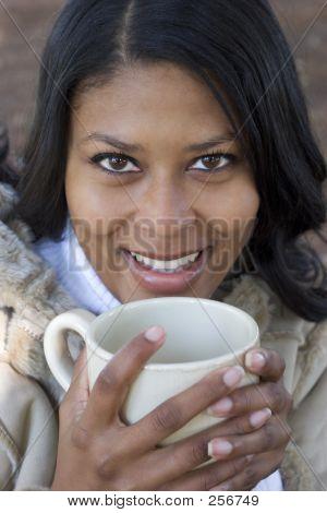 Frau trinken