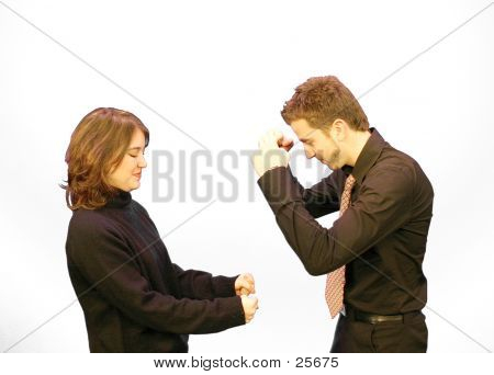 Business Couple Happy