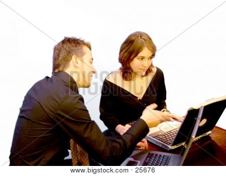 Business Couple - Laptop 2