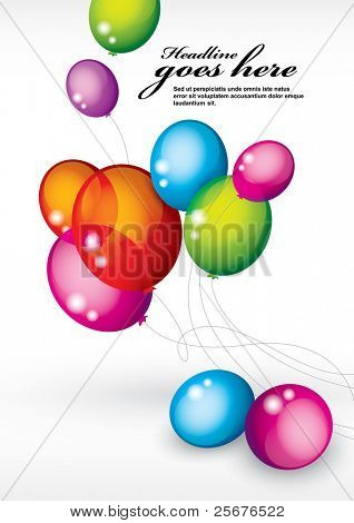 vector of background with multicolored balloons