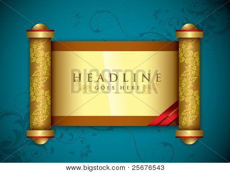 vector of golden scroll background