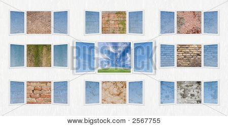 Open Window Freedom Concept With Walls