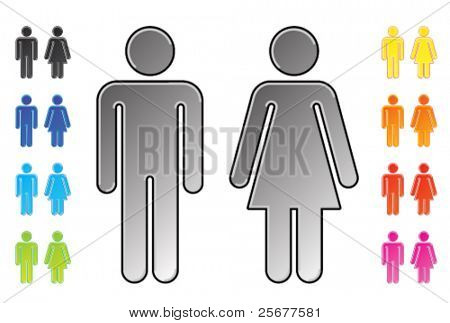 men and womenâ??s toilet pictograms