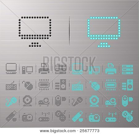 Perforated Computer buttons