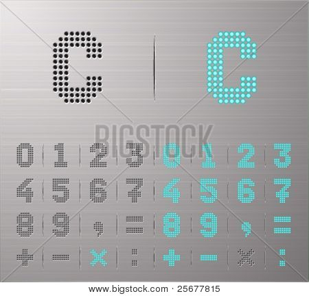 Perforated Calculator buttons