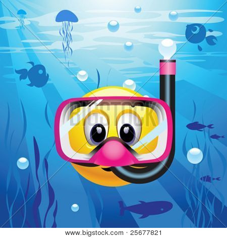 Smiley ball as diver