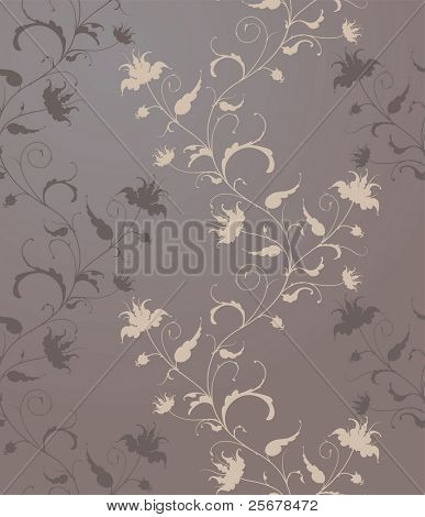 vector flower wallpaper (seamless vector pattern included in swatches palette) â?¢ Full collection of similar pattern in my portfolio â?¢
