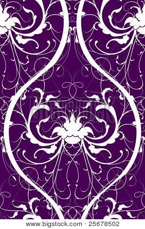 vector flower wallpaper (seamless vector pattern included in swatches palette)