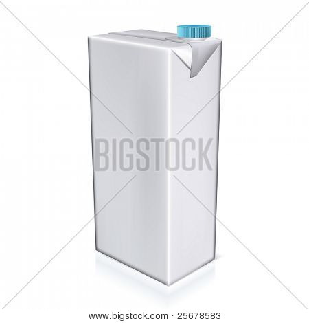 High detailed vector milk pack isolated on white