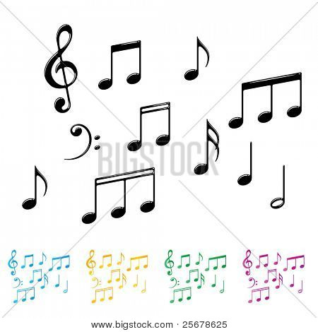 Collection of Basic Notes â?¢ Find more music notes in my portfolio â?¢