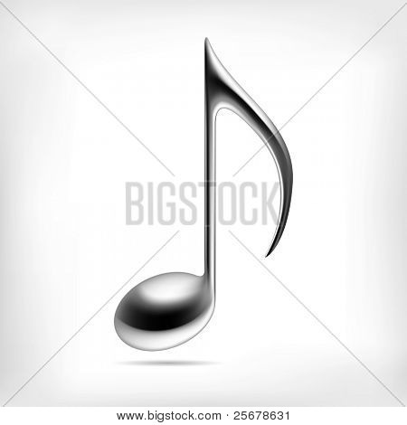Metallic Music Note  • Find more music notes in my portfolio •