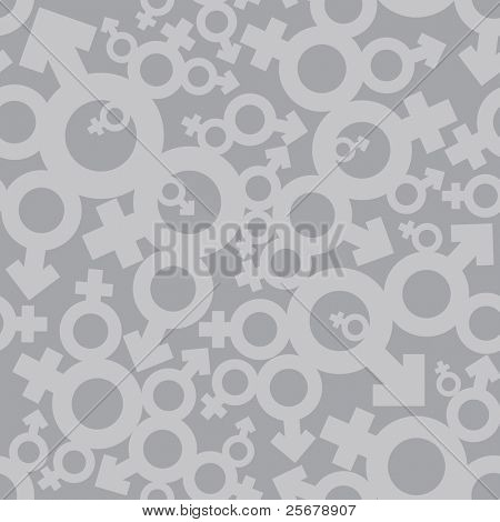 Male and Female symbols (seamless pattern)