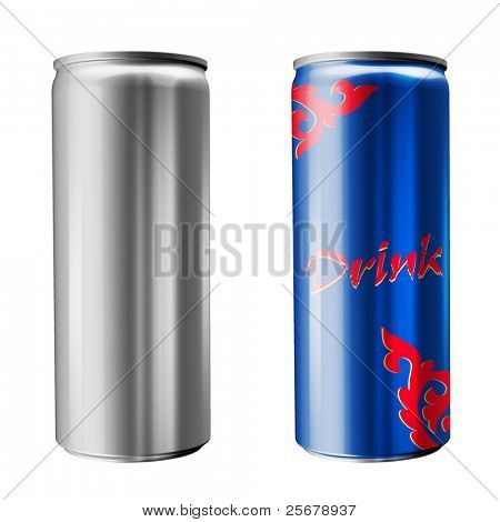 Slim soda can (isolated on white background)