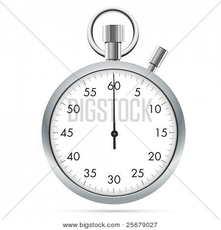 Stopwatch isolated on white background (Vector)