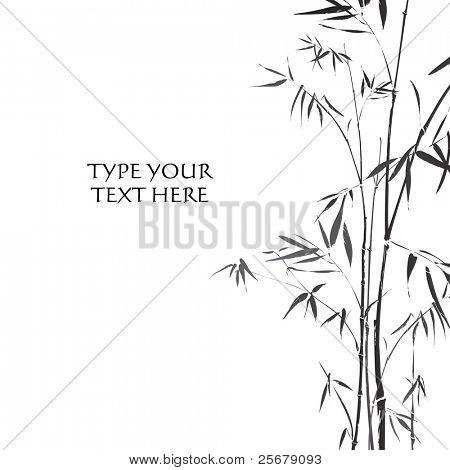 Bambus (traditionellen asiatischen Stil schwarz / weiß)