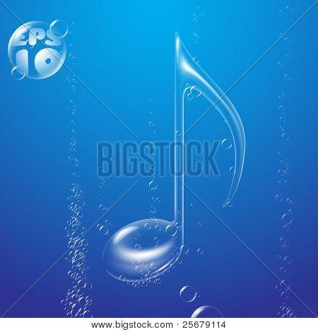 Bubble Music Note underwater