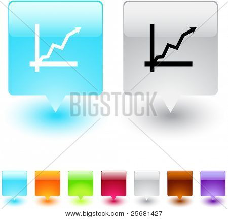 Positive trend glossy square web buttons.