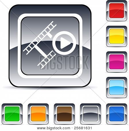 Film glossy square web buttons.