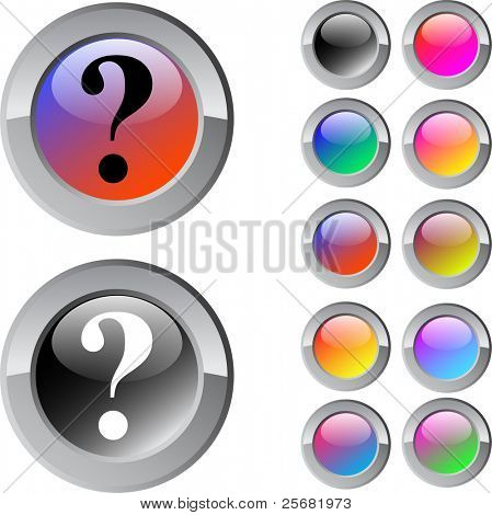Help multicolor glossy round web buttons.