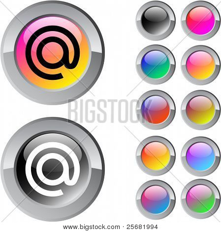 At multicolor glossy round web buttons.