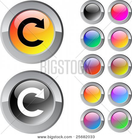 Reload multicolor glossy round web buttons.