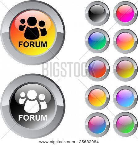 Forum multicolor glossy round web buttons.