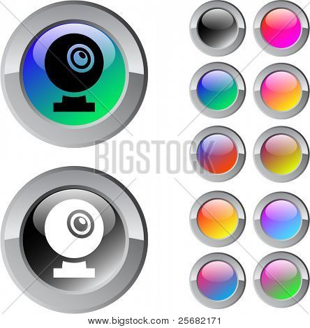 Webcam multicolor glossy round web buttons.