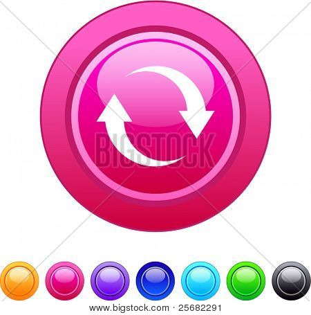 Refresh glossy circle web buttons.