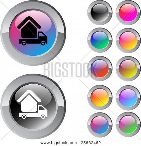 Camper multicolor glossy round web buttons.