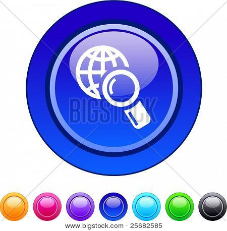Global search glossy circle web buttons.